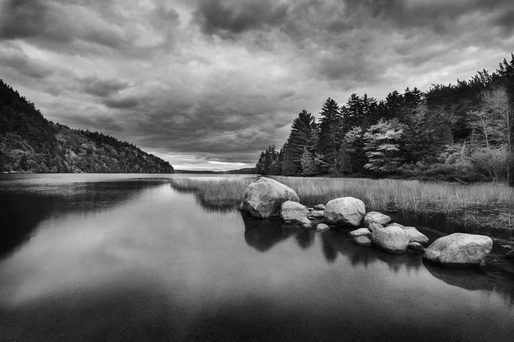 Landscape black and white boston architectural photography